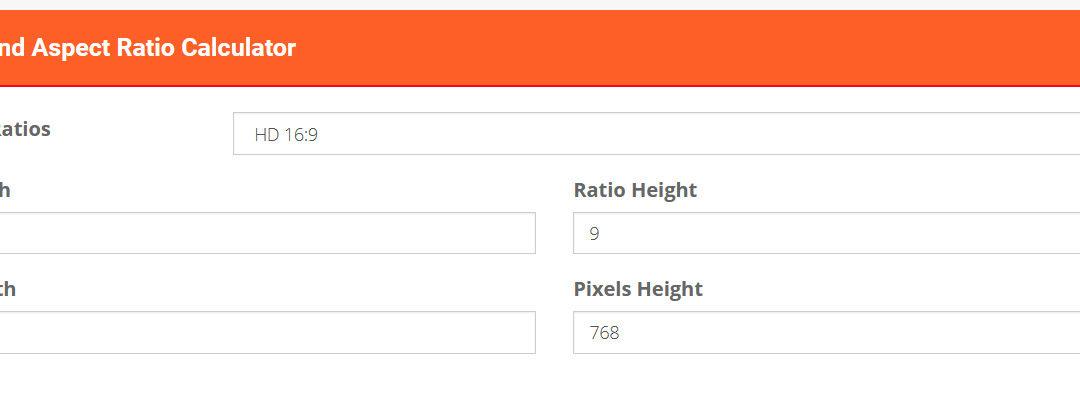 Pixels and Aspect Ratio Calculator by xWebTools.com